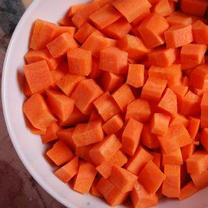 Zanahoria en cubos 10x10mm IQF 4014 2